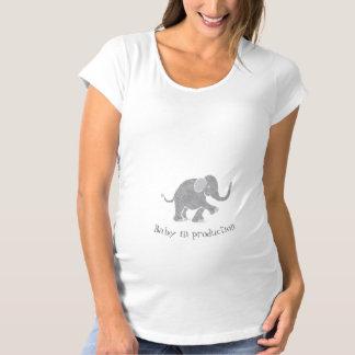 """Camiseta """"Bebê elefante cinzento bonito neutro na produção"""""""