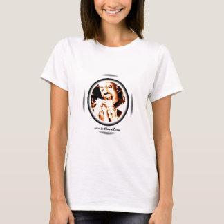 Camiseta Bebê grande da mordida das T-Mulheres (branco)