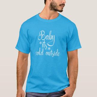 Camiseta Bebê seu Tshirt exterior frio do feriado do Natal