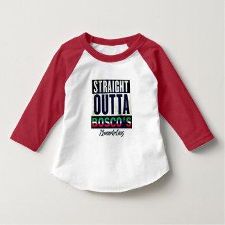 Camiseta Bebê vermelho italiano do Raglan de Outta Bosco