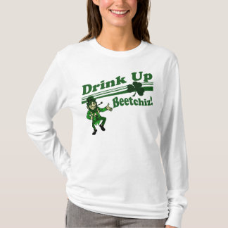 Camiseta Bebida acima do Leprechaun de Beetchiz