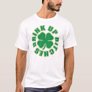 "Camiseta ""Bebida acima trevo das cadelas"""