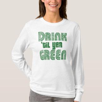 Camiseta Bebida 'até o VERDE do YER!