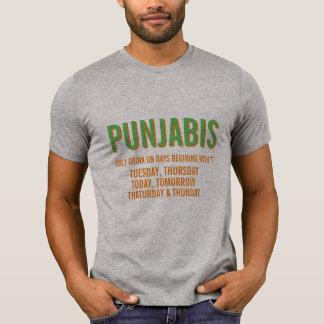 Camiseta bebida do punjabi somente nos dias que começam com