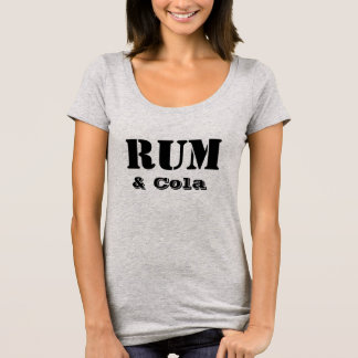 Camiseta Bebida favorita T-Shrit do rum & da cola