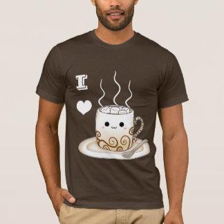 Camiseta Bebida morna do cacau do kawaii bonito