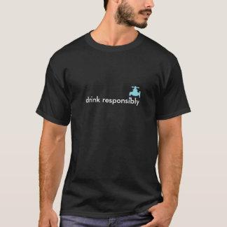 Camiseta bebida responsàvel (com torneira de água)