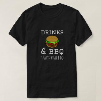 Camiseta Bebidas & CHURRASCO - de que é o que eu faço