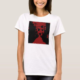 Camiseta Beco minimalista preto e vermelho