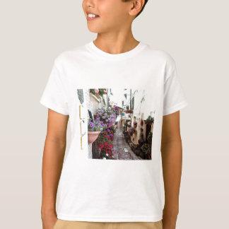 Camiseta Becos de Windows, do balcão e da flor em Spello