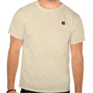 Camiseta bege do logotipo dos homens P4P