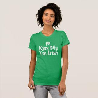 Camiseta Beije-me. Eu sou irlandês