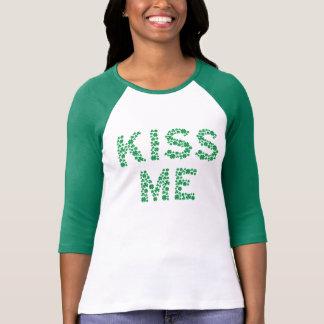 Camiseta Beije-me (eu sou irlandês) t-shirt soletrado com