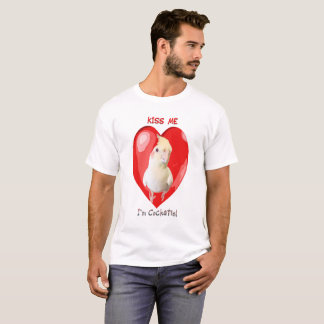 Camiseta Beije-me que eu sou Cockatiel