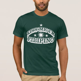 Camiseta Beije-me que eu sou filipino