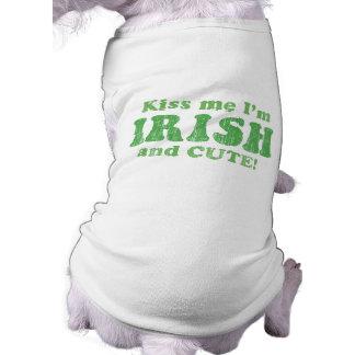 Camiseta Beije-me que eu sou irlandês e bonito!