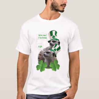 Camiseta Beije-me que eu sou irlandês, meercat