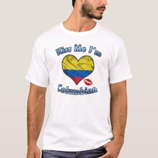 Camiseta Beije-me que eu sou t-shirt Columbian da bandeira