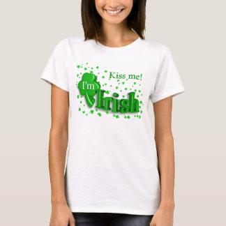 Camiseta Beije-me que eu sou t-shirt do dia das senhoras St