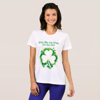 Camiseta Beije-me que eu sou t-shirt irlandês