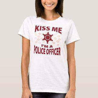 Camiseta Beije-me que eu sou um agente da polícia