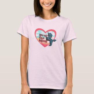 Camiseta Beije-me que eu sou um t-shirt do unicórnio