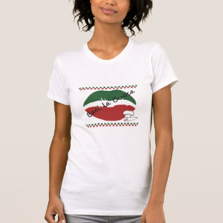 Camiseta Beije o t-shirt das mulheres do cozinheiro