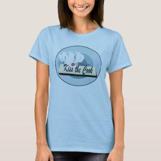 Camiseta Beijo do cozinheiro chefe o t-shirt do azul do