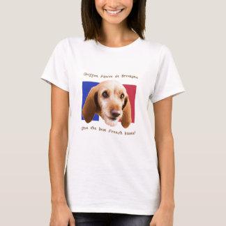 Camiseta Beijos do francês de Griffon Fauve de Bretagne