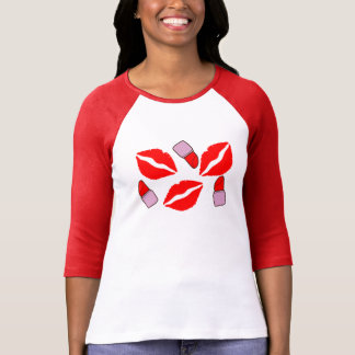 Camiseta beijos e batons