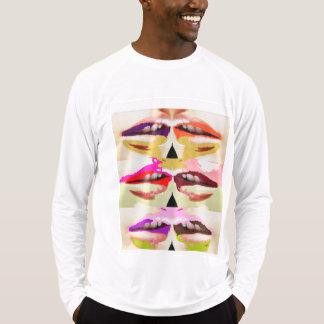 Camiseta Belas artes sensuais coloridas dos lábios