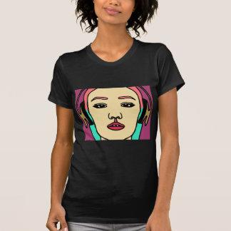 Camiseta Beleza asiática: Menina do auscultadores