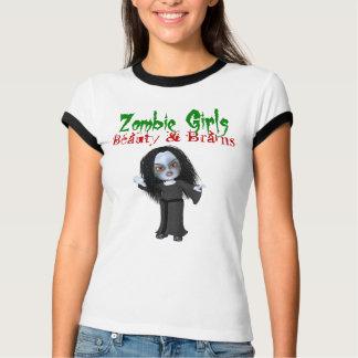 Camiseta Beleza & cérebros das meninas do zombi