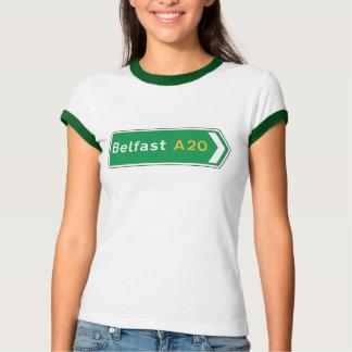 Camiseta Belfast, sinal de estrada BRITÂNICO