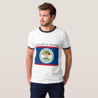 Camiseta Belize não um mexicano