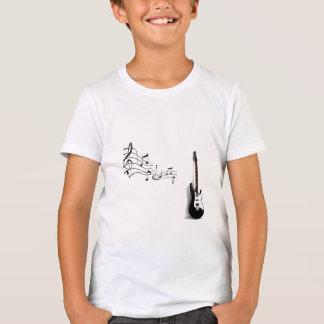Camiseta Bella+Canvas Crew, Amarelo Neon Guitarra