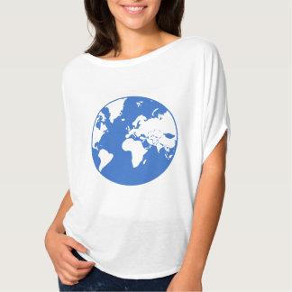 Camiseta Bella da terra/mulheres+Parte superior do círculo
