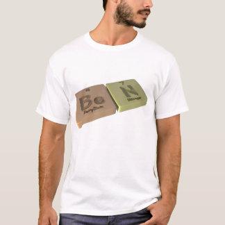 Camiseta Ben como o berílio seja e o nitrogênio N