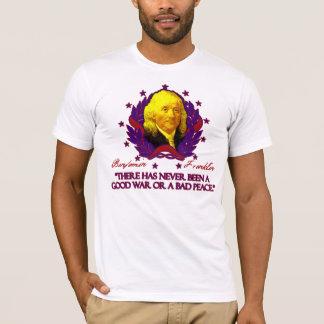 Camiseta Ben Franklin em boas guerras e na paz má