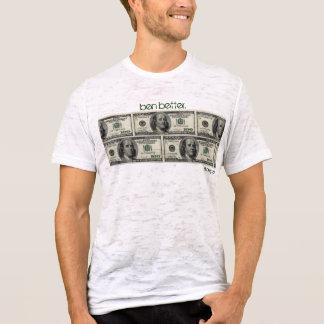 """Camiseta """"ben melhor. De """"t-shirt fino do dinheiro Benjamin"""