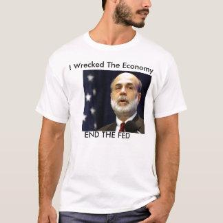 """Camiseta Bernanke """"eu wrescked a economia """""""