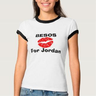 Camiseta BESOS para Jordão