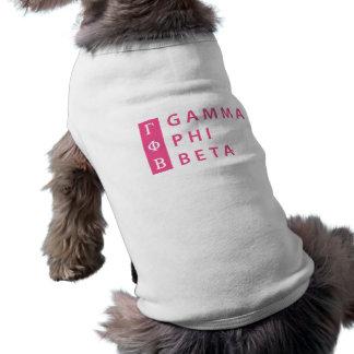 Camiseta Beta da phi da gama empilhado