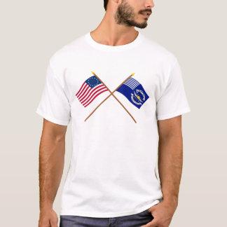 Camiseta Betsy Ross cruzado e òs Dragoons da luz do