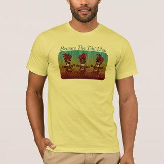 Camiseta Beware a ilha tropical engraçada Luau dos homens