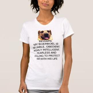 Camiseta BEWARE de MEU t-shirt de BOERBOEL