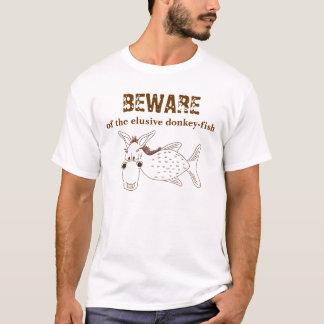 Camiseta BEWARE dos asno-peixes indescritíveis