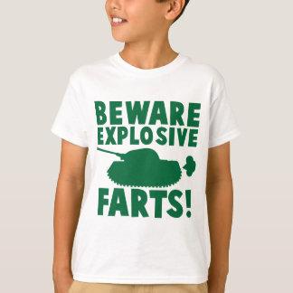 Camiseta Beware EXPLOSIVO FARTS!