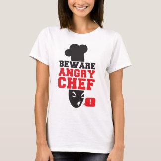 Camiseta BEWARE O COZINHEIRO CHEFE IRRITADO! cozinhe o