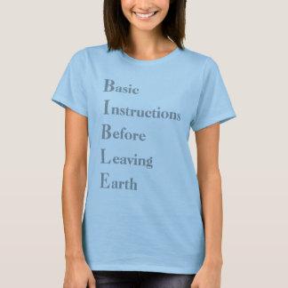 Camiseta BÍBLIA, básica, instruções, antes, saindo, terra